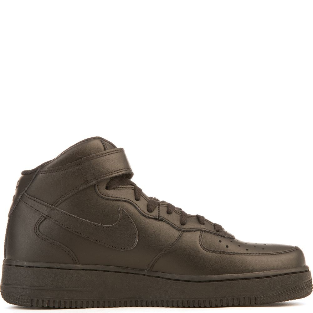 315123-001 Uomo Nike Air Force 1 Mid '07 - Nere/Nere