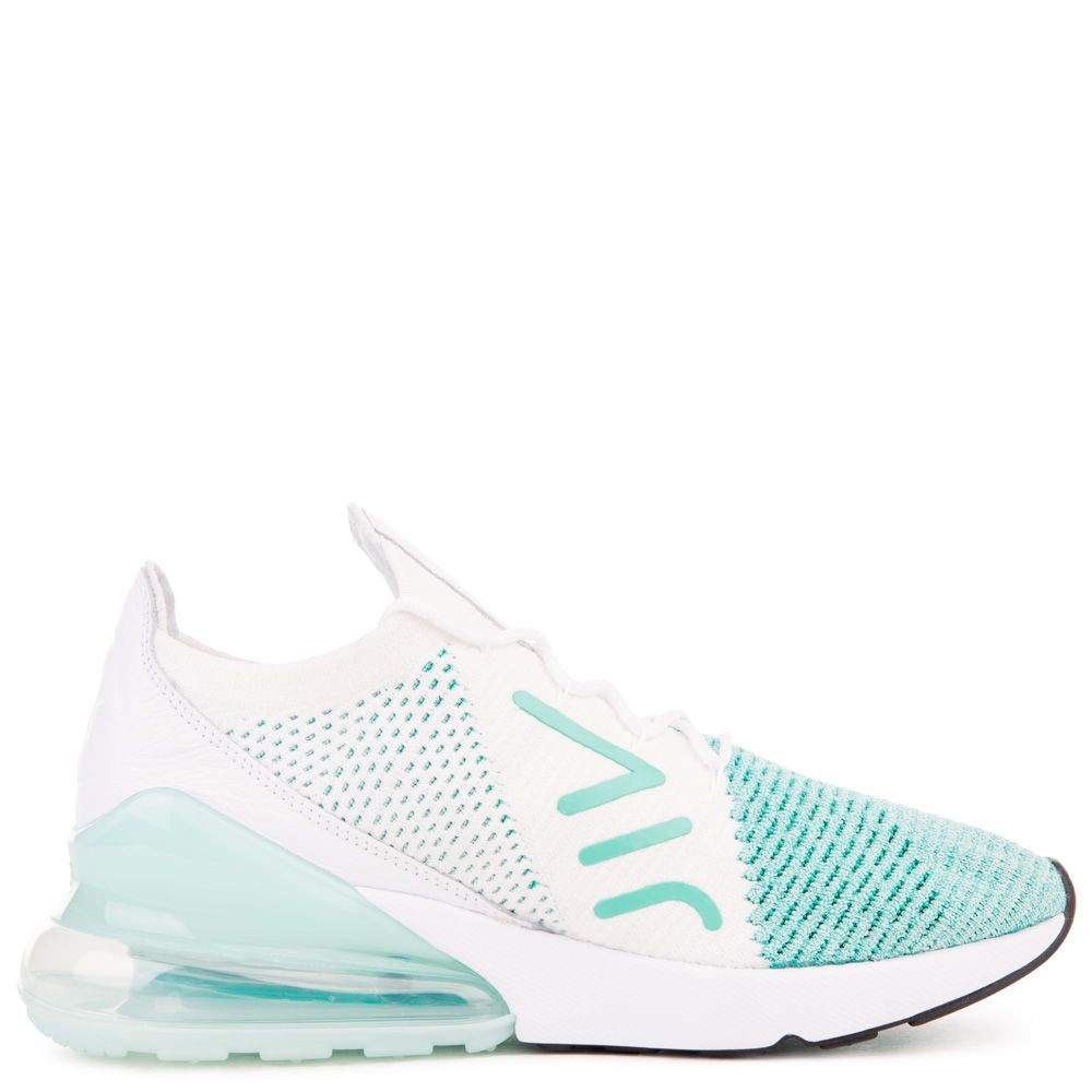 AH6803-301 Donne Nike Air Max 270 Flyknit - Igloo/Bianche/Clear Emerald