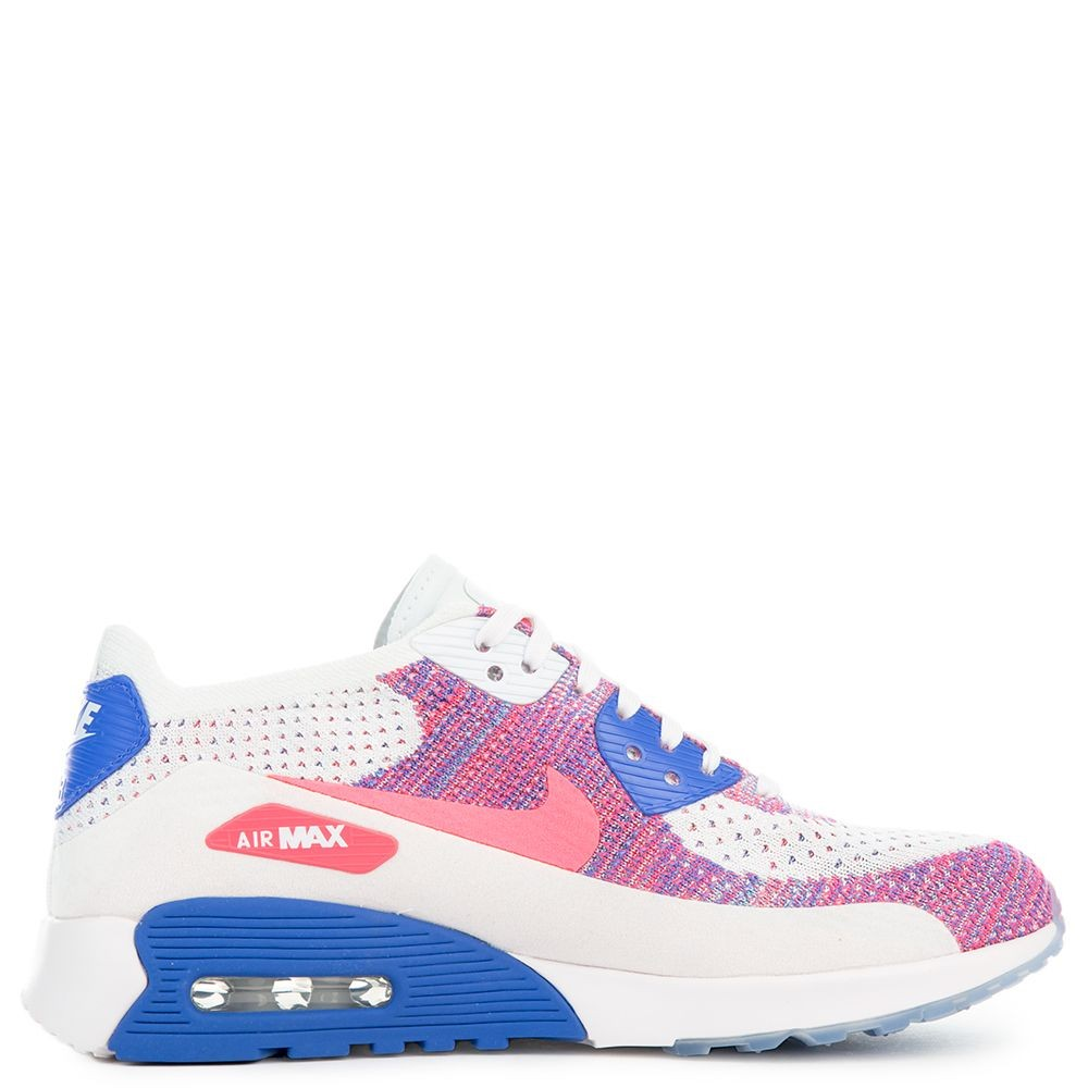 881109-103 Nike Donne Air Max 90 Ultra 2.0 Flyknit - Bianche/Rosa-Blu