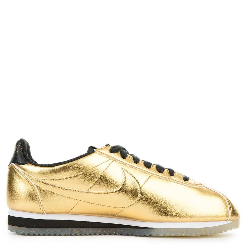 902854-700 Nike Donne Classic Cortez Leather SE - Metallic Gold/Bianche-Nere