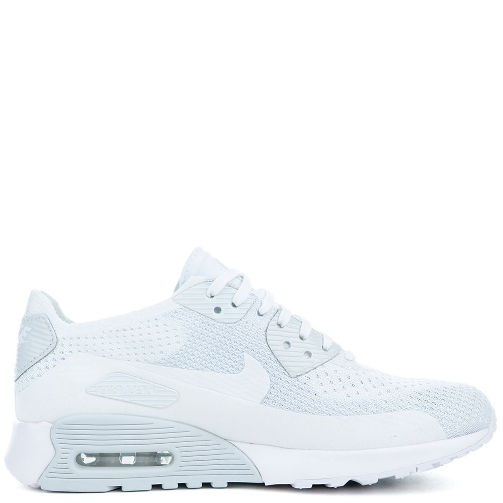 881109-104 Nike Air Max 90 Ultra 2.0 Flyknit - Bianche/Bianche-Pure Platinum