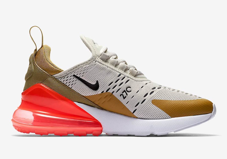 Nike Air Max 270 Flight Oro/Nere/Hot Punch AH6789-700