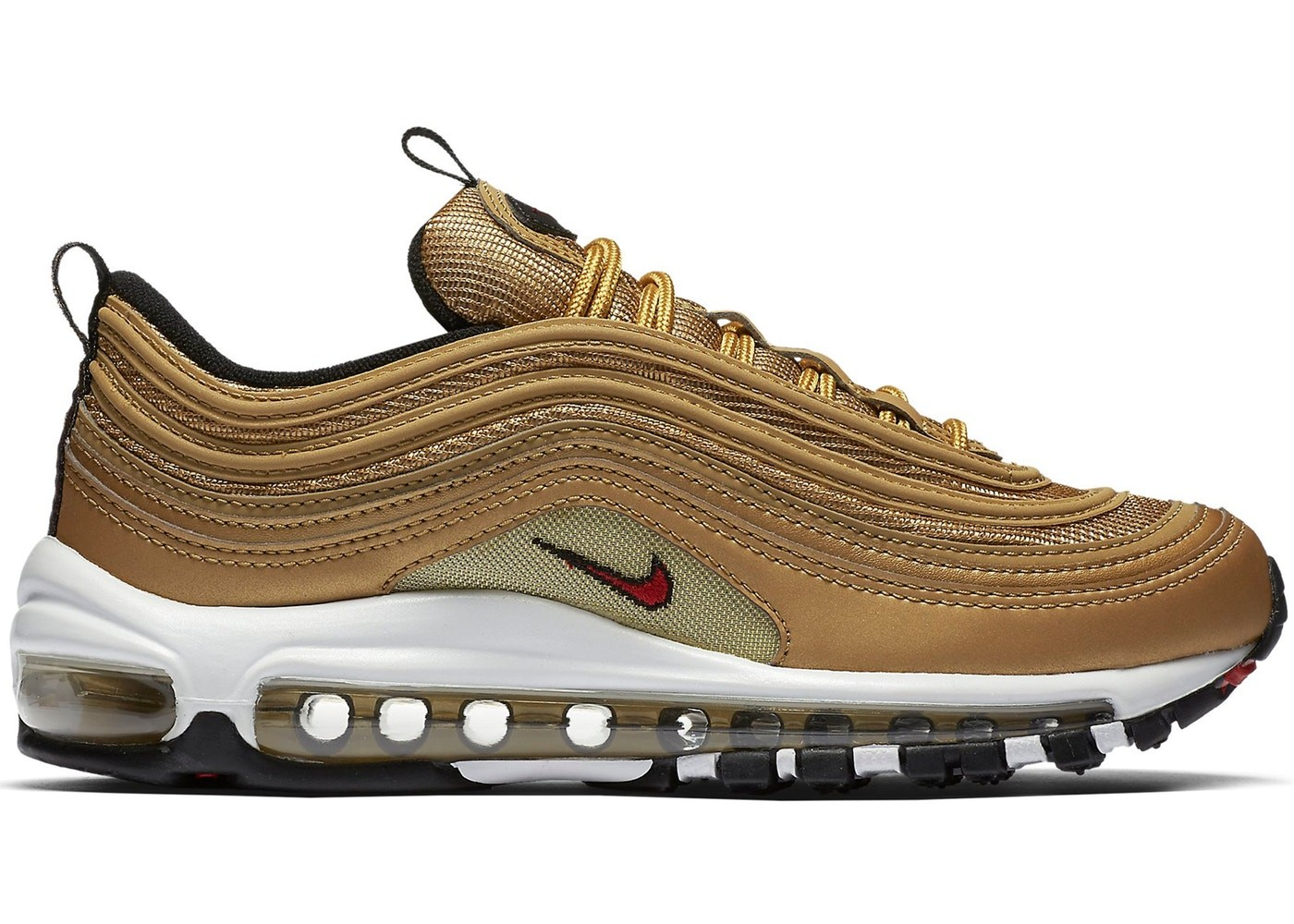 Nike Air Max 97 Donne Metallic Gold/Rosse-Bianche 885691-700