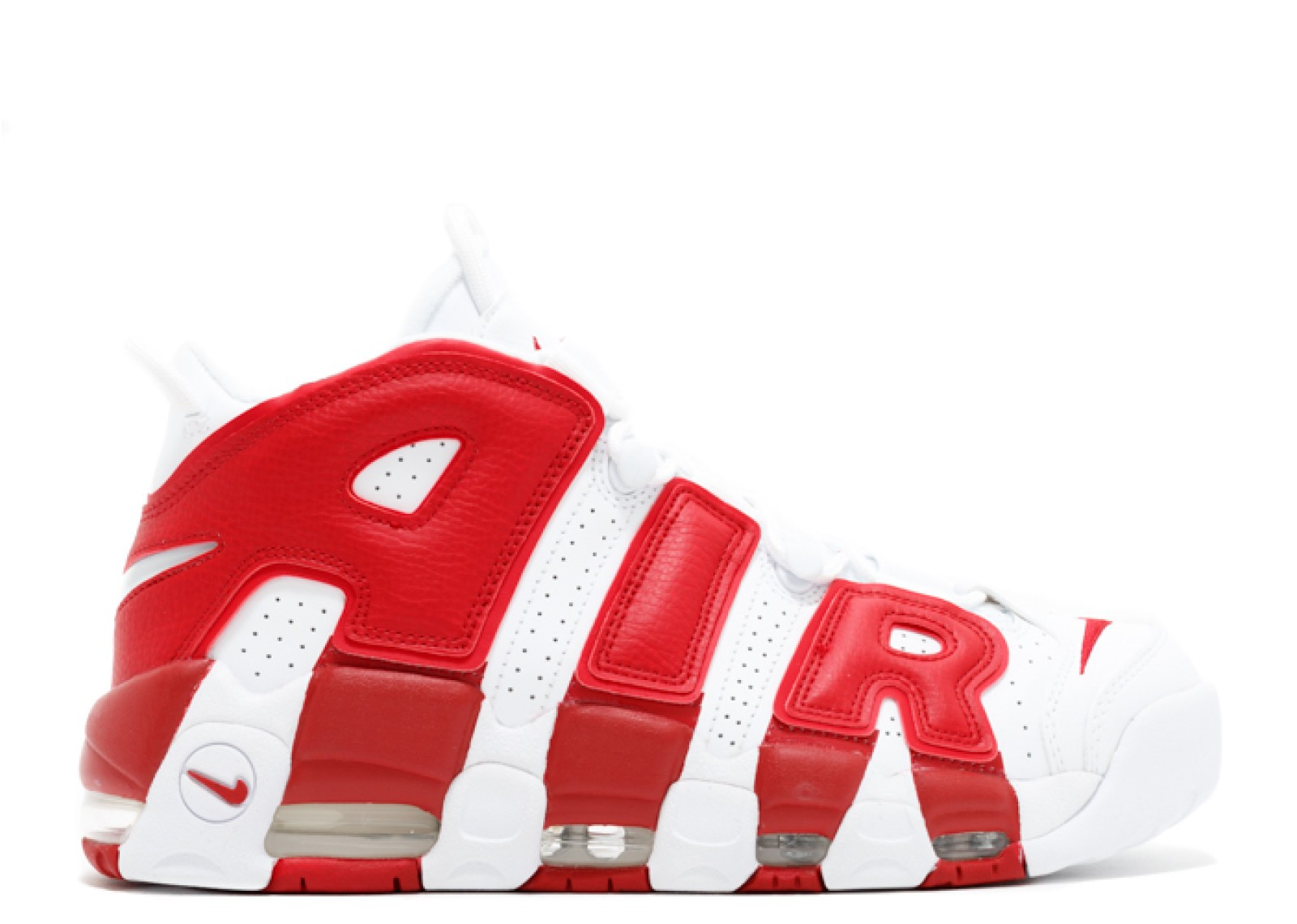 Nike Pippen Air More Uptempo Bianche/Rosse 414962-100