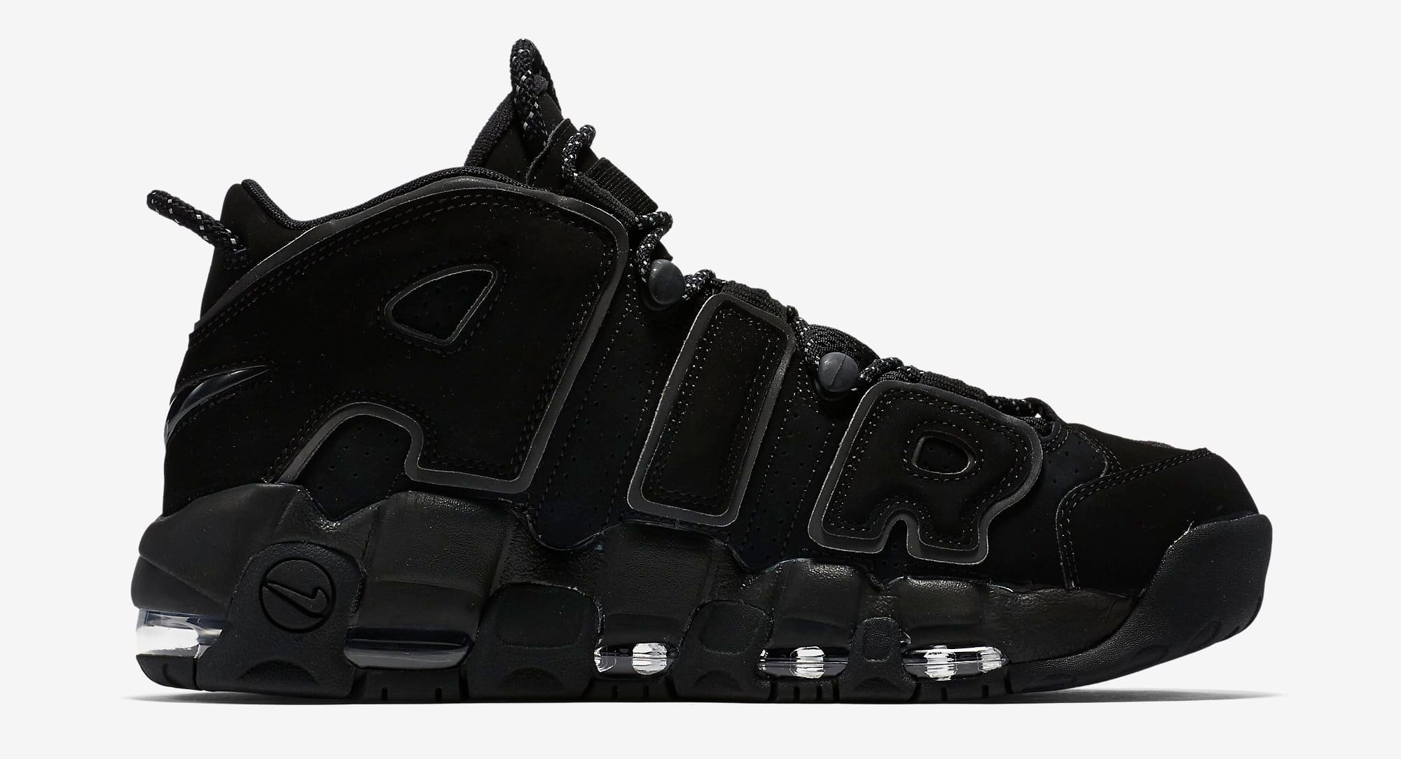 Nike Air More Uptempo Triple Nere | 414962-004