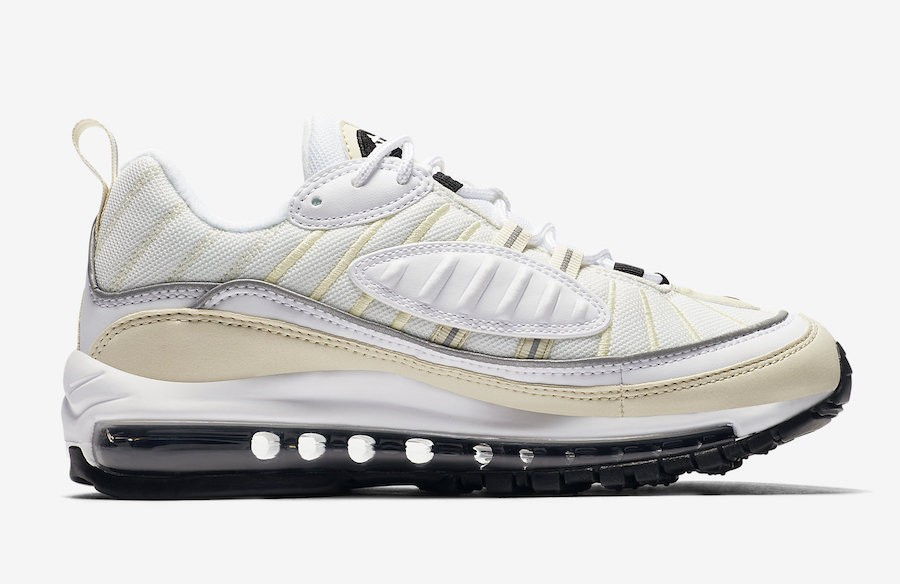 Donne Nike Air Max 98 Bianche/Nere-Fossil AH6799-102