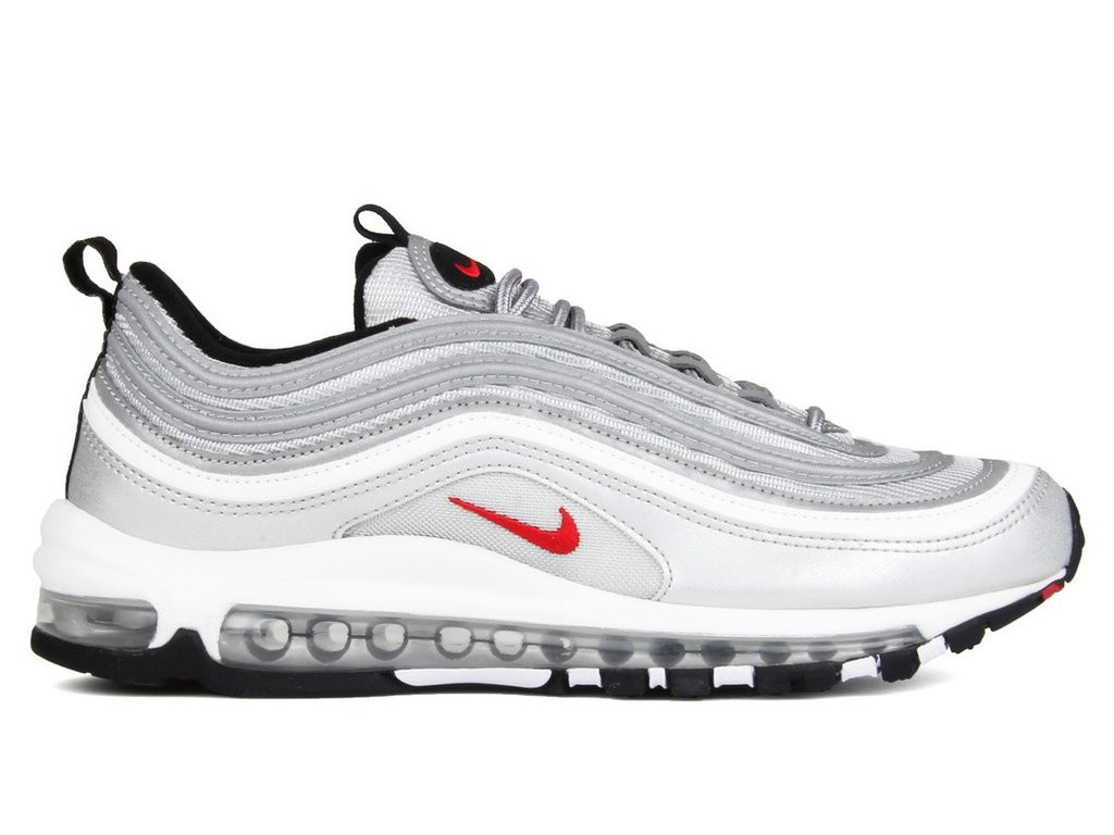 Nike Donne Air Max 97 OG QS Metallic Silver/Rosse 885691-001