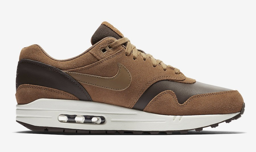 Nike Air Max 1 Premium Leather Marroni/Golden Beige AH9902-200