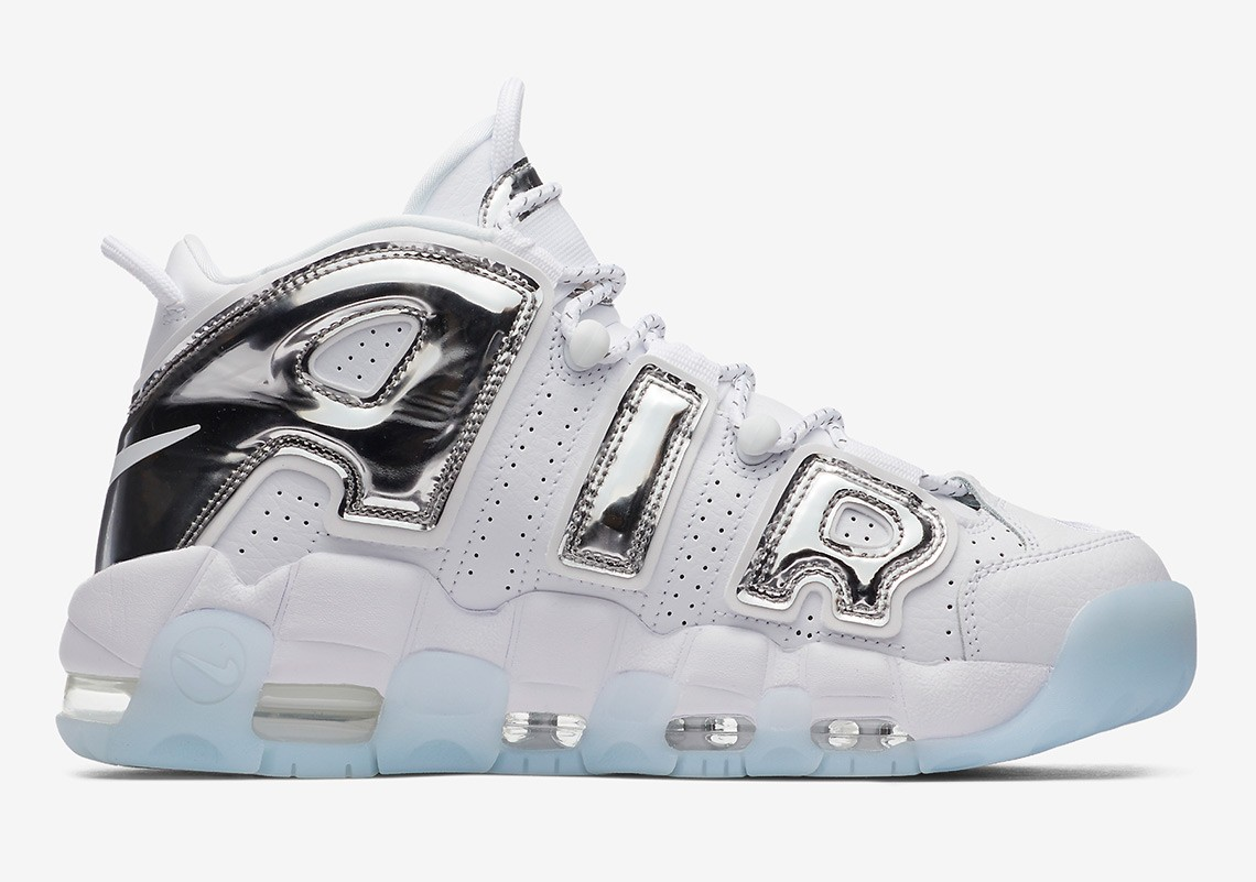 Nike Air More Uptempo Chrome Bianche/Chrome-Blu Tint Donne | 917593-100