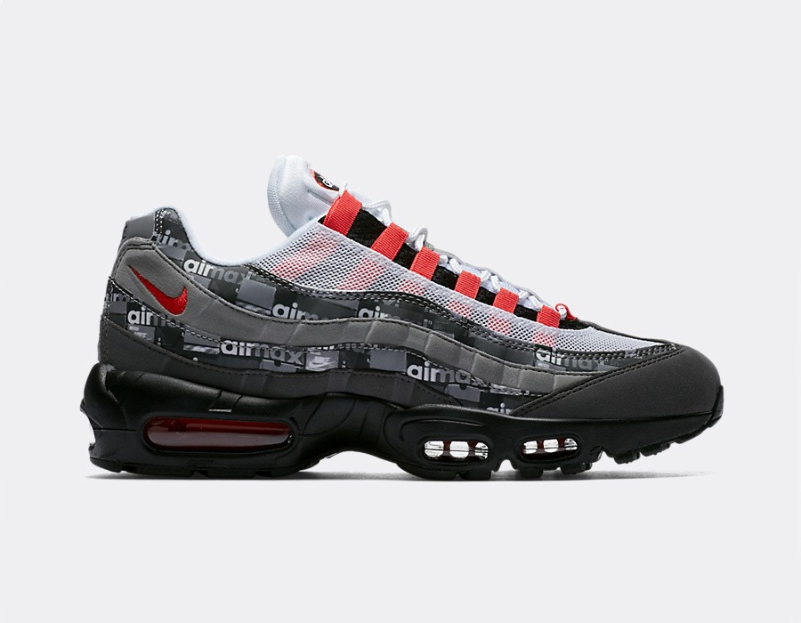 AQ0925-002 Nike Air Max 95 Print - Nere/Bright Crimson-Medium Ash