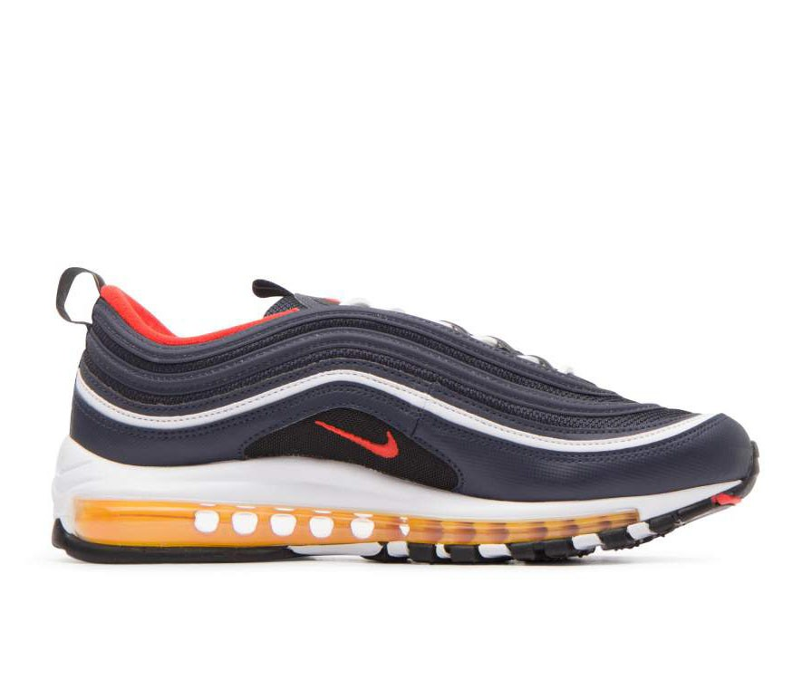 921826-403 Nike Air Max 97 Scarpe - Midnight Navy/Rosse-Nere