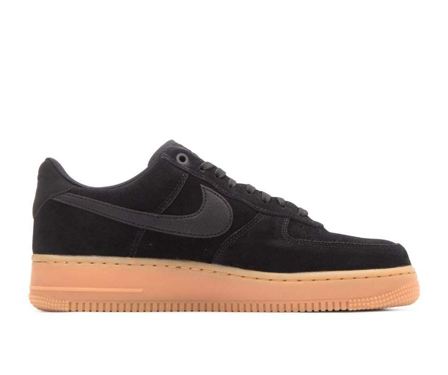 AA1117-001 Nike Air Force 1 '07 Lv8 Suede - Nere/Nere-Gum Marroni-Ivory