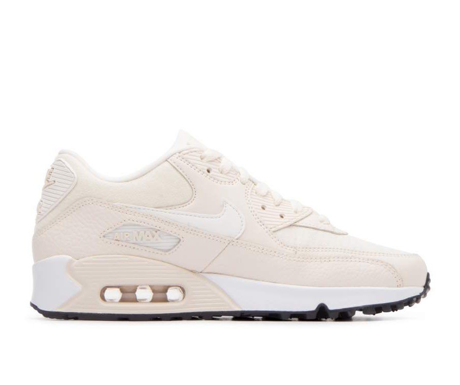 325213-213 Nike Donne Air Max 90 Scarpe - Light Cream/Sail-Nere