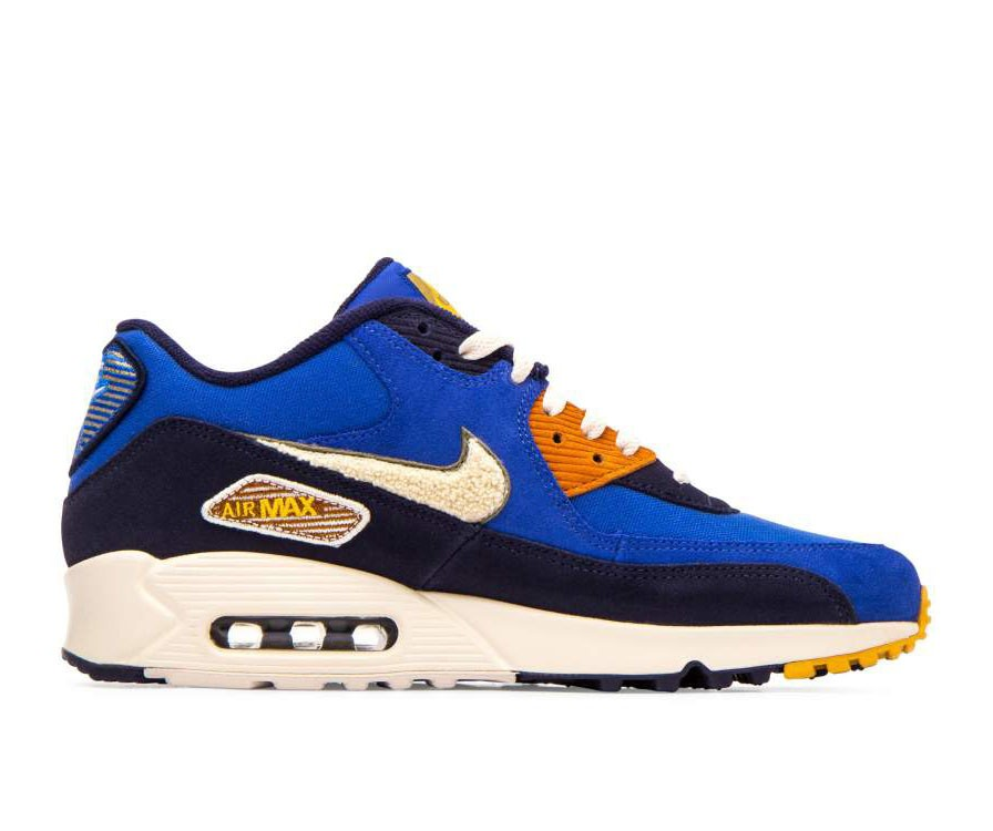 858954-400 Nike Air Max 90 Premium SE - Game Royal/Light Cream-Verdi