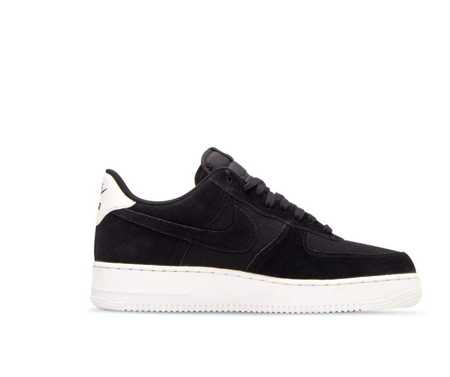AO3835-001 Nike Air Force 1 '07 Suede Scarpe - Nere/Nere-Sail