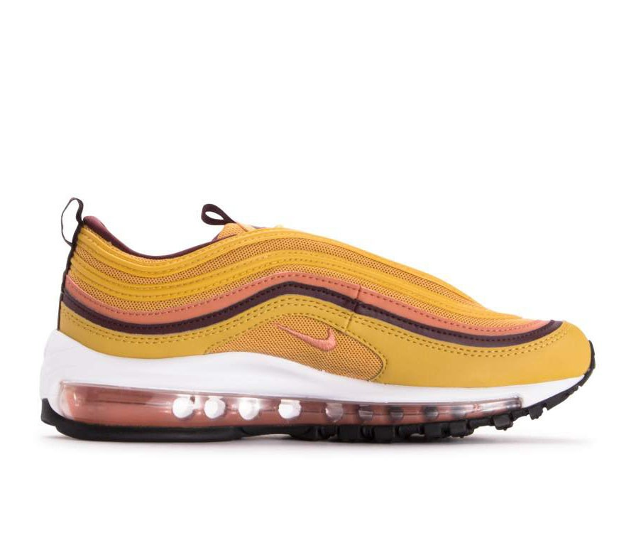 921733-700 Nike Donne Air Max 97 Scarpe - Wheat Oro/Terra Blush-Burgundy