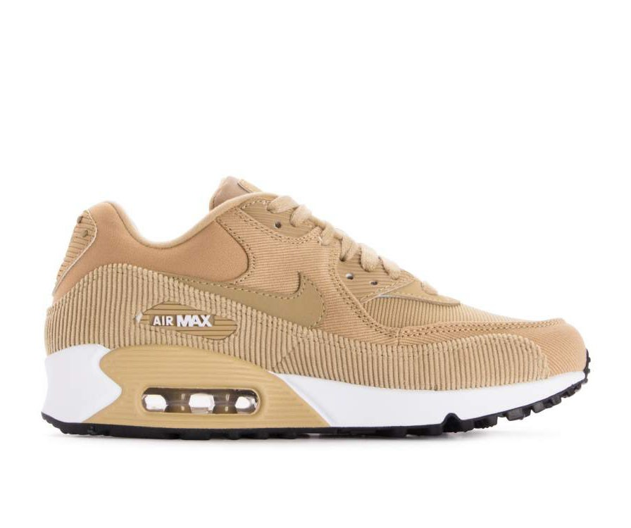 921304-200 Nike Donne Air Max 90 Leather Scarpe - Beige/Nere