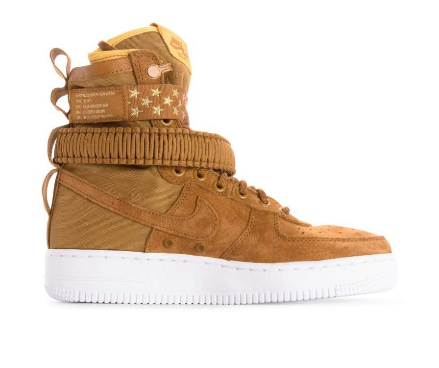 857872-203 Nike Donne Sf Air Force 1 - Muted Bronze/Muted Bronze-Bianche