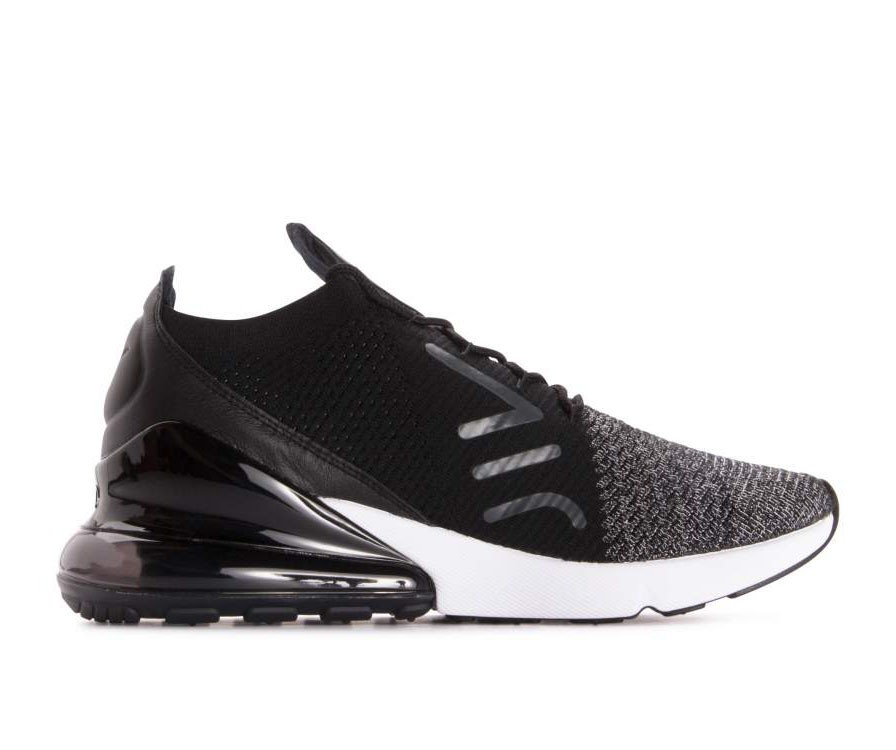 AO1023-001 Nike Air Max 270 Flyknit Scarpe - Nere/Nere/Bianche
