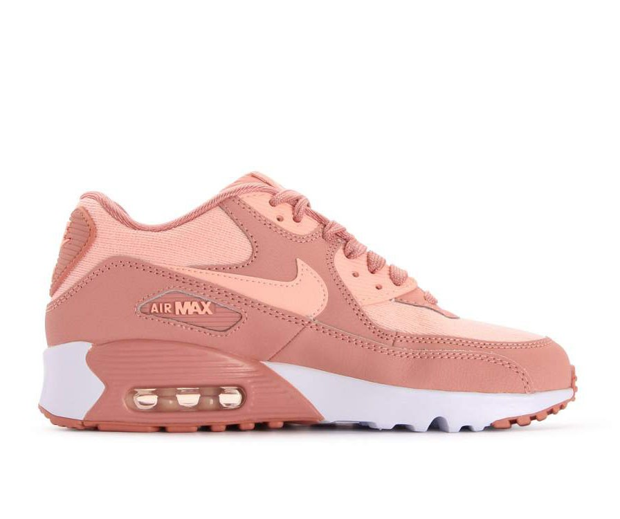 880305-601 Nike Air Max 90 SE Mesh GS - Rosa/Rosa-Guava Ice-Bianche