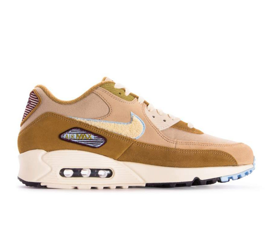 858954-200 Nike Air Max 90 Premium SE - Muted Bronze/Light Cream-Royal Tint