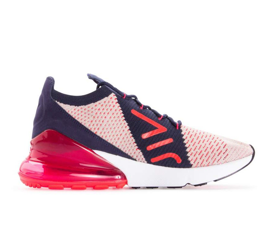 AH6803-200 Nike Donne Air Max 270 Flyknit - Moon Particle/Rosse-Blu