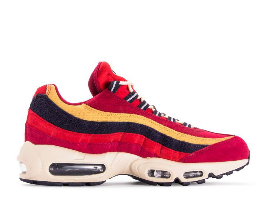 538416-603 Nike Air Max 95 Premium - Rosse/Viola-Wheat Gold