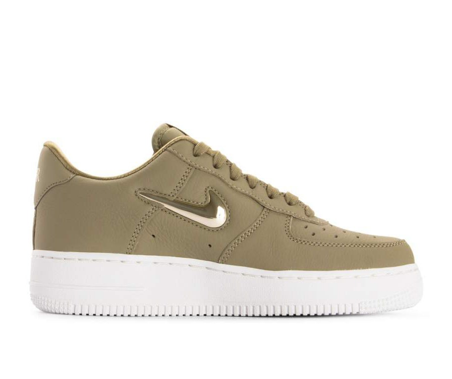 AO3814-200 Nike Donne Air Force 1 '07 Premium LX - Olive/Metallic Gold-Metallic Bronze