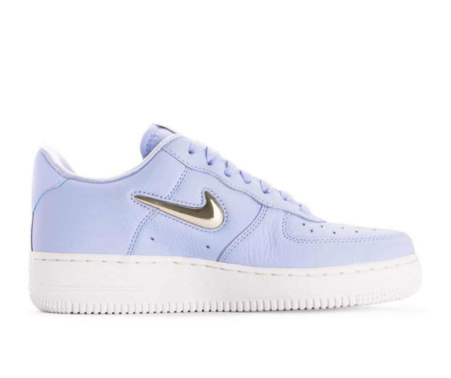 AO3814-400 Nike Donne Air Force 1 '07 Premium LX - Royal Tint/Metallic Gold-Bianche