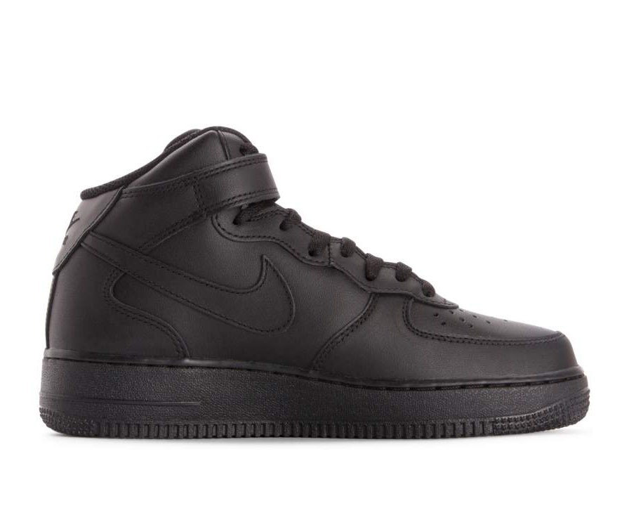 366731-001 Nike Donne Air Force 1 '07 Mid Scarpe - Nere/Nere