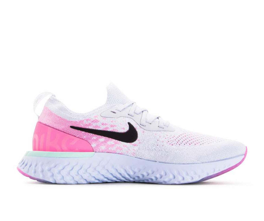 AQ0067-007 Nike Epic React Flyknit - Pure Platinum/Nere/Rosa