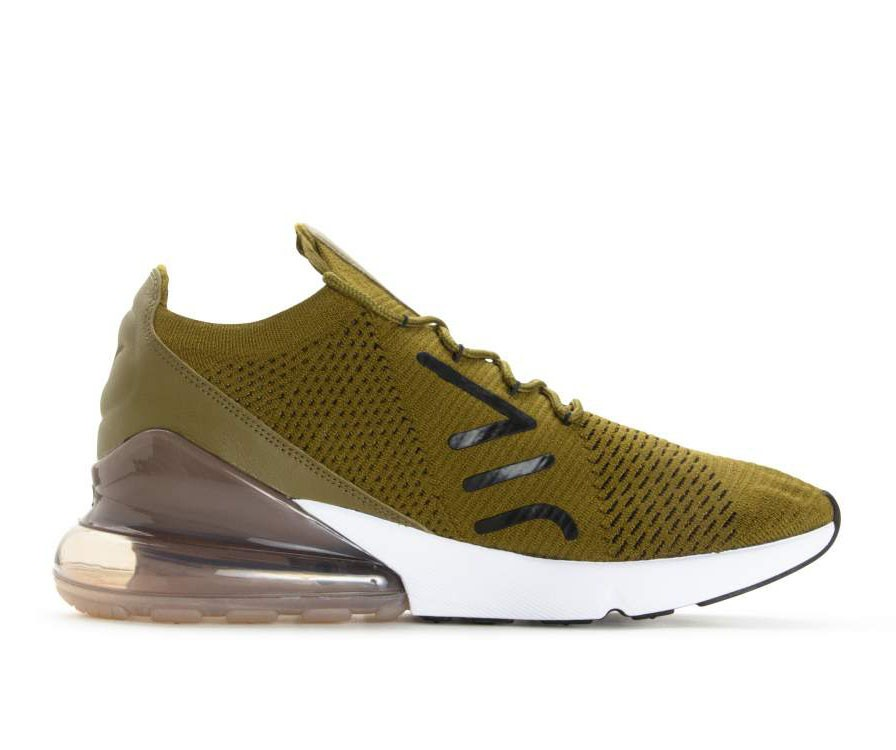 AO1023-300 Nike Air Max 270 Flyknit - Olive Flak/Nere/Sepia Stone