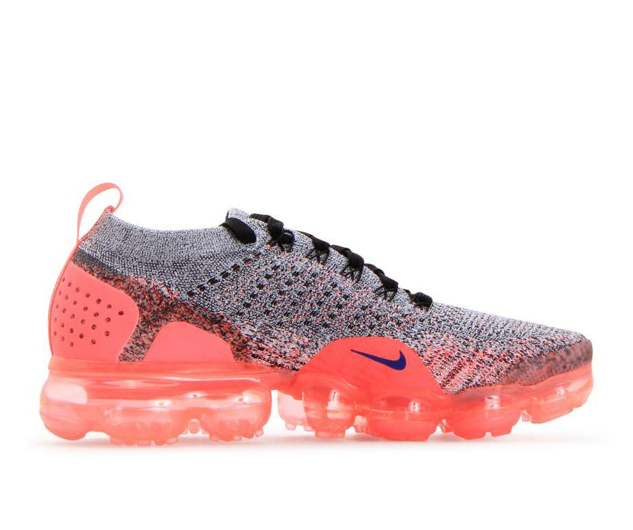 942843-104 Nike Donne Air Vapor Max Flyknit 2 - Bianche/Ultramarine/Hot Punch/Nere