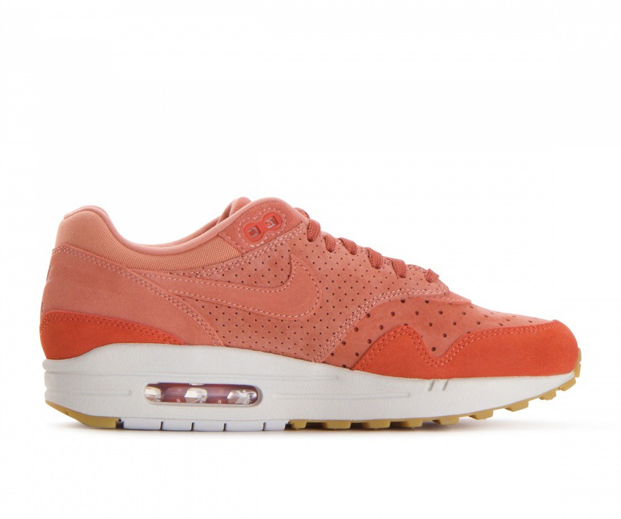 454746-603 Nike Donne Air Max 1 Premium Scarpe - Crimson Bliss/Crimson Bliss