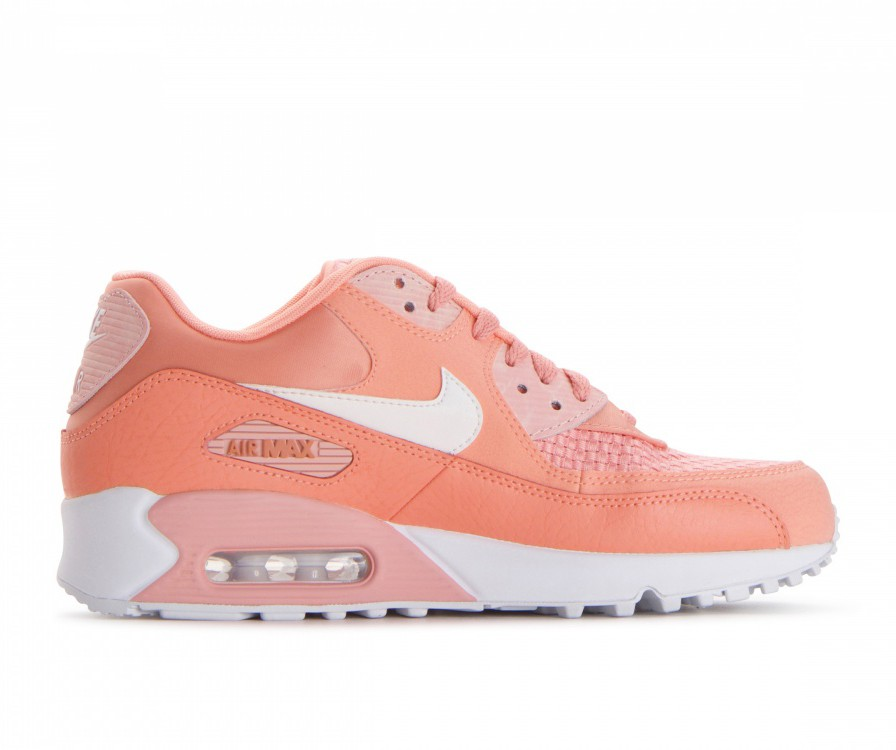 881105-604 Nike Donne Air Max 90 SE - Crimson Bliss/Bianche/Coral Stardust