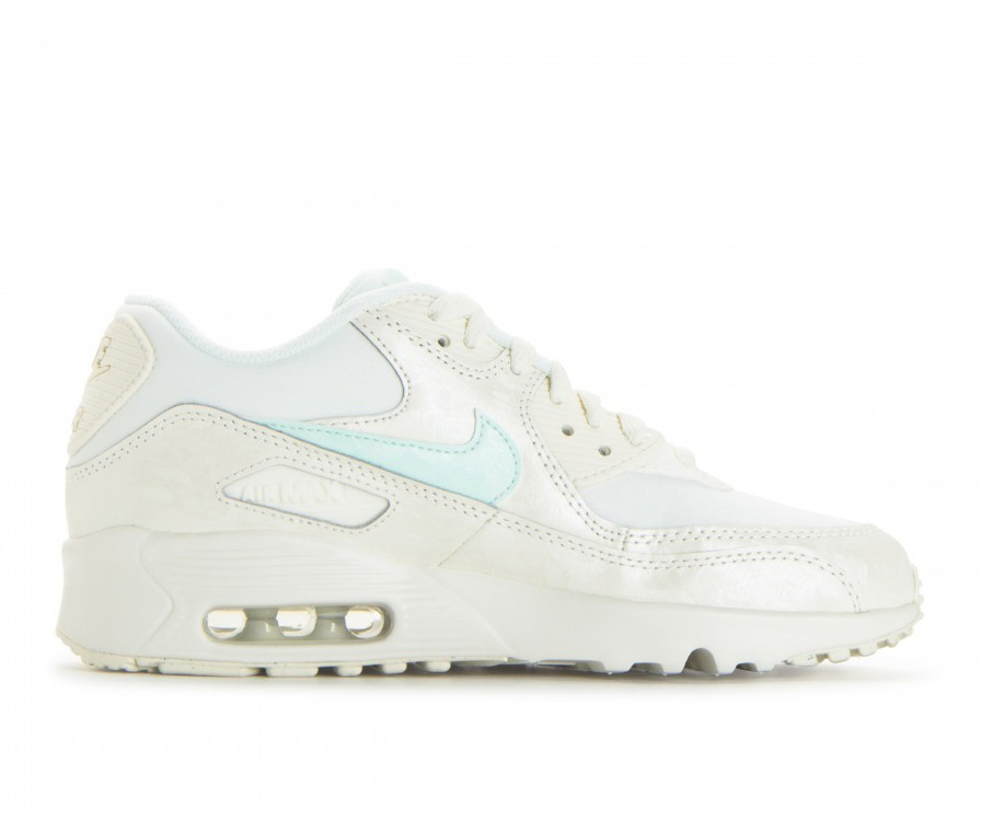 833340-107 Nike Air Max 90 Mesh GS Scarpe - Sail/Igloo