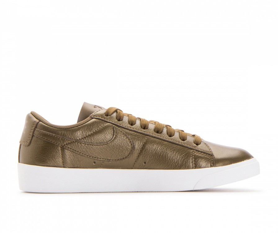 AA3961-900 Nike Donne Blazer Low LE - Metallic Field/Metallic Field-Bianche