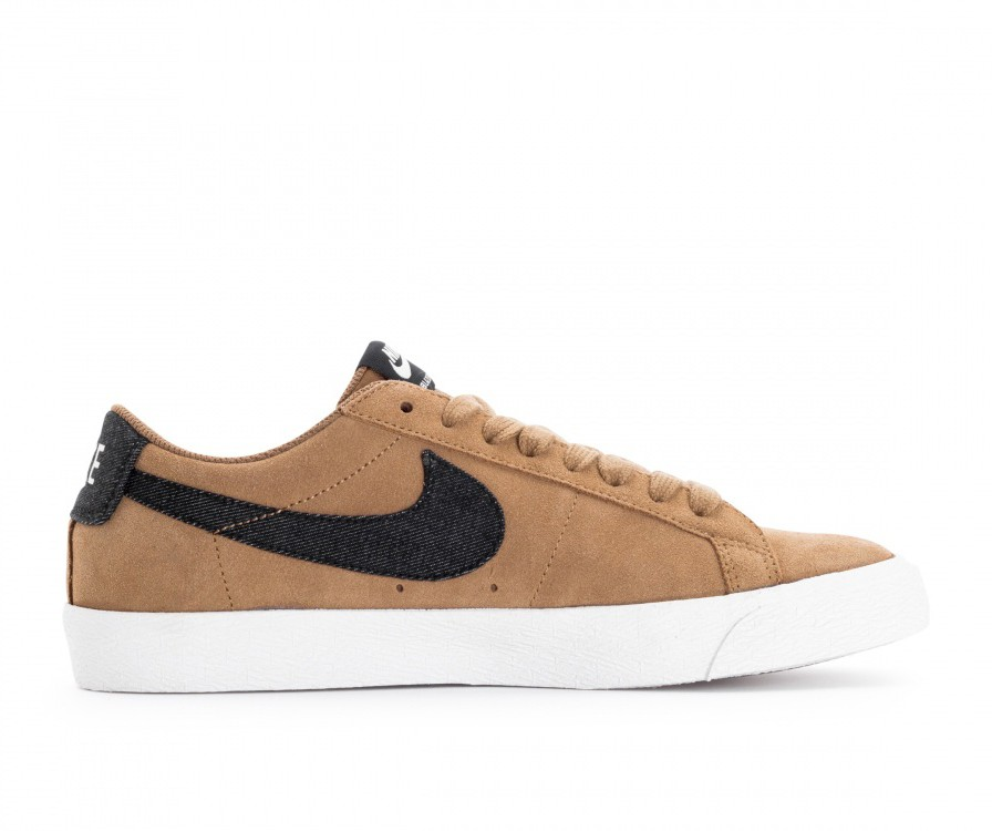 864347-201 Nike Zoom Blazer Low Scarpe - Golden Beige/Nere
