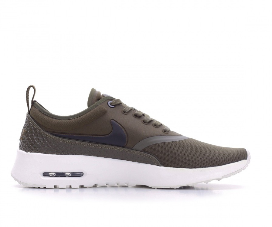 848279-300 Nike Donne Air Max Thea Ultra Premium - Dark Loden/Nere-Ivory