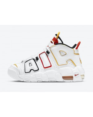 """DD9282-100 Nike Air More Uptempo GS """"Raygun"""" - Bianche/Nere-Rosse"""
