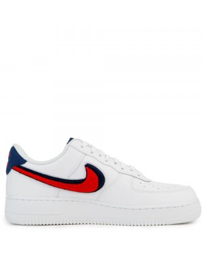 823511-106 Nike Air Force 1 '07 Lv8 - Bianche/Rosse/Blu