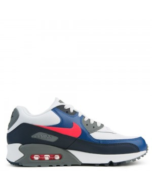537384-135 Nike Air Max 90 Essential - Bianche/Rosse/Obsidian