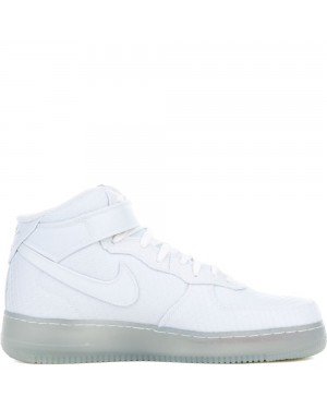 804609-102 Nike AIR FORCE 1 MID '07 LV8 - Bianche/Metallic Silver
