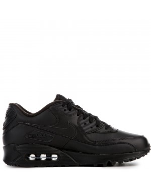 302519-001 Nike AIR MAX 90 LEATHER Scarpe - Nere/Nere