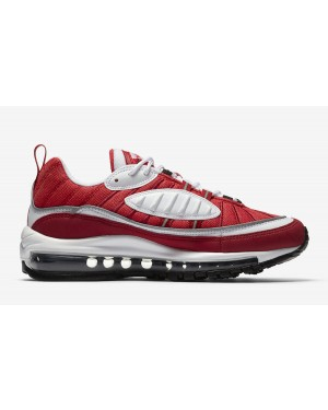 AH6799-101 Nike Air Max 98 Bianche/Nere-Rosse-Argento