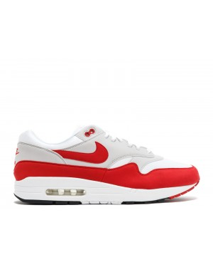 Nike Air Max 1 Anniversary Bianche/Rosse 908375-100