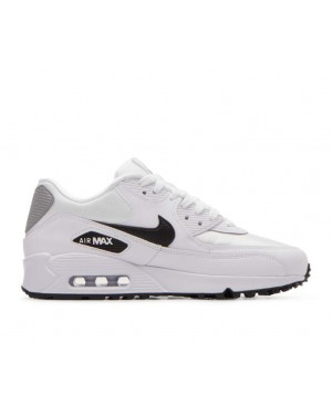 325213-137 Nike Donne Air Max 90 Scarpe - Bianche/Nere-Argento