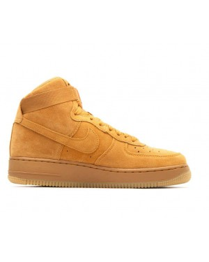 807617-701 Nike Air Force 1 High Lv8 GS - Wheat/Wheat-Marroni