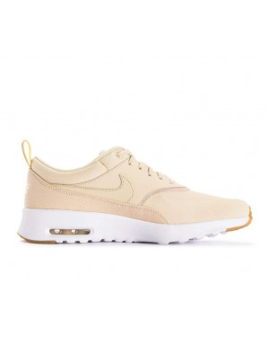 616723-204 Nike Donne Air Max Thea Premium Scarpe - Beach/Metallic Gold-Sail