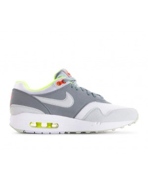 319986-107 Nike Donne Air Max 1 - Bianche/Grigio/Light Pumice/Volt